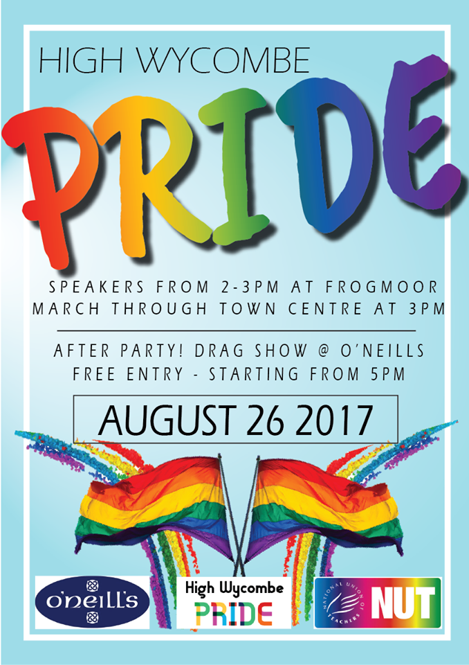 REMINDER-PRIDE Wycombe is soon here! 26th August @ 2pm ...